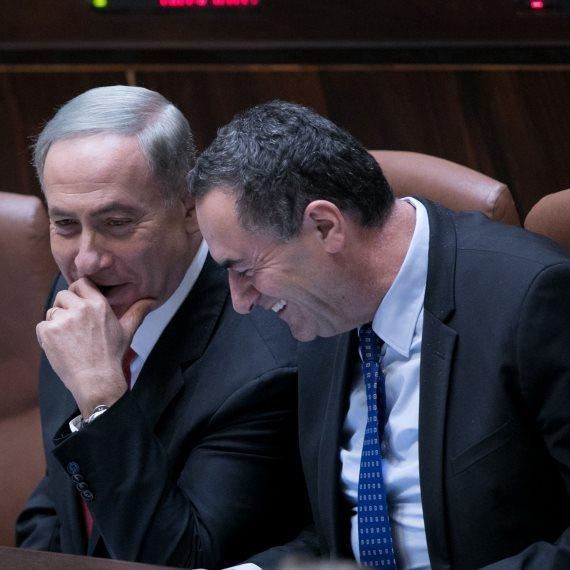 """שר התחבורה ישראל כ""""ץ וראש הממשלה בנימין נתניהו"""