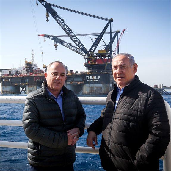ראש הממשלה בנימין נתניהו ושר האנרגיה יובל שטייניץ
