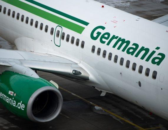 מטוס של גרמניה איירליינס