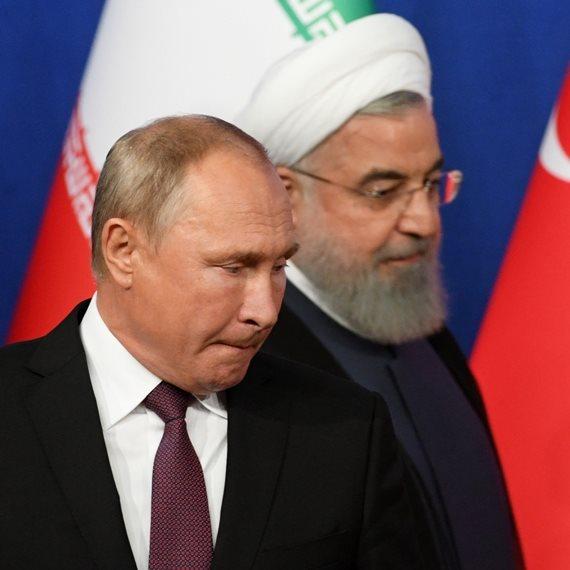 נשיא איראן חסן רוחאני ונשיא רוסיה ולדימיר פוטין