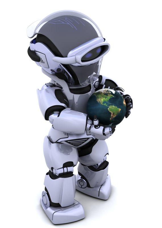 המציג הינו רובוט.