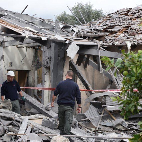 הבית שנפגע במושב משמורת