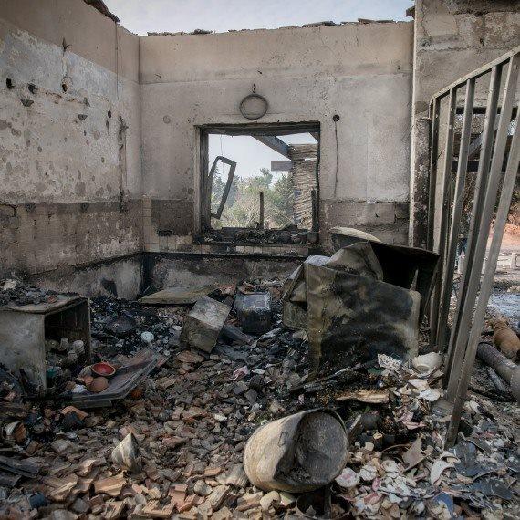 שאריות לאחר שריפה של בית (ארכיון)
