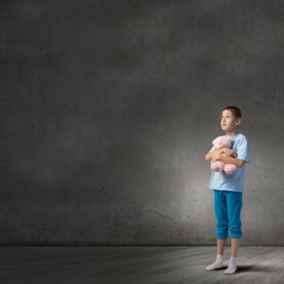 ילד עם חרדות