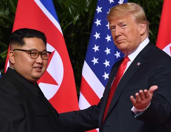 דונלד טראמפ וקים ג'ונג-און