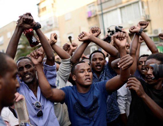 מחאת האתיופים בעקבות הירי בנער בן ה-19