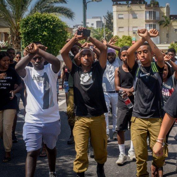 מחאה אתיופים בעקבות הירי בנער