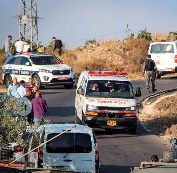 זירת הפיגוע הקטלני בגוש עציון