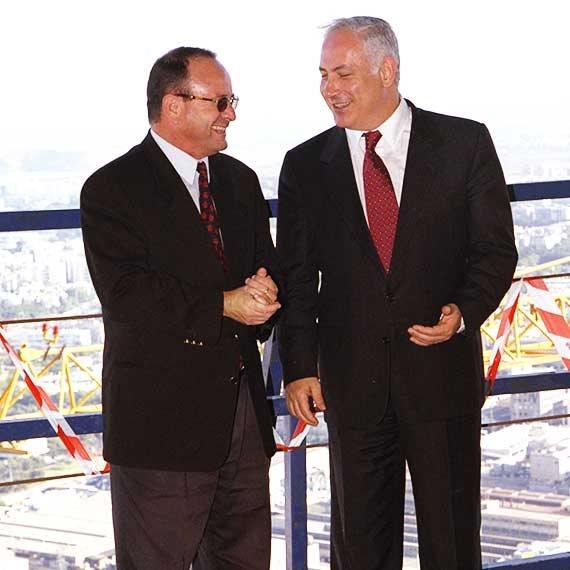 מילוא לצד ראש הממשלה בנימין נתניהו, 1997