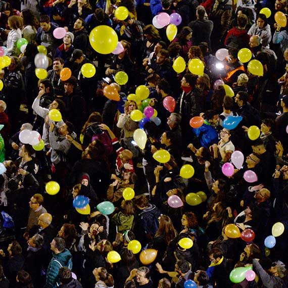 ההפגנות בברצלונה, אמש
