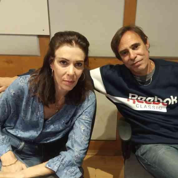 חמי רודנר באולפן עם איריס קול