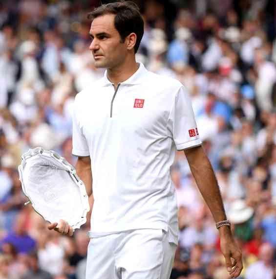 רוג'ר פדרר בטורניר הטניס בווימבלדון 2019