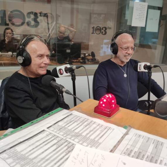 דויד קריבושי וקובי אשרת באולפן של דידי