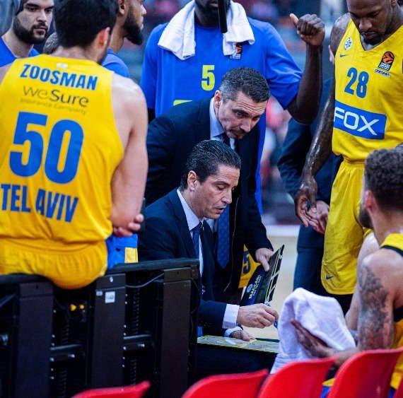 מכבי תל אביב ומאמן הקבוצה יאניס ספרופולוס