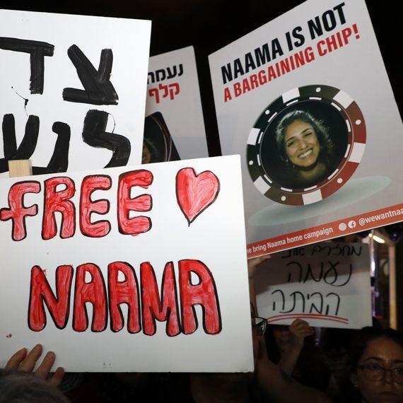 הפגנה למען שחרורה של נעמה יששכר