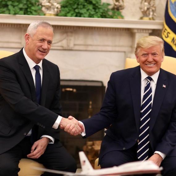 דונלד טראמפ ובני גנץ