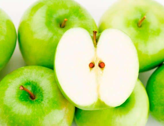 לא כל כך בריא. תפוחים