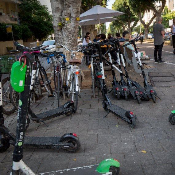 קורקינטים חשמליים במרכז תל אביב