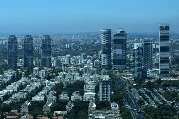 מגדלי בניינים בתל אביב