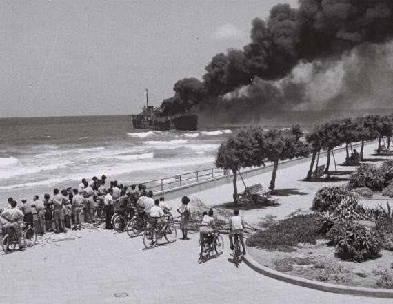 האלטלנה מול חופי תל אביב