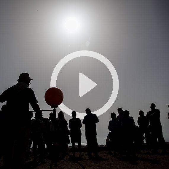 ישראלים צופים בירושלים בליקוי החמה, הבוקר