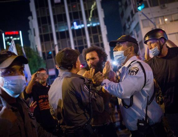 """המחאה שאירעה בסוף השבוע בת""""א"""
