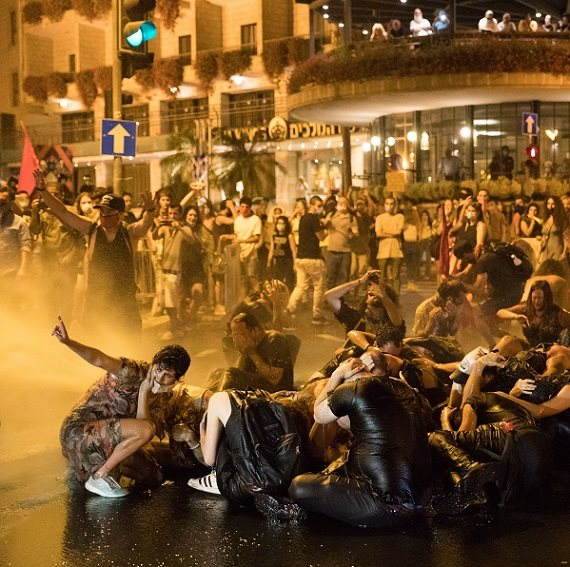 הפגנת מחאה מול מעון ראש הממשלה בבלפור