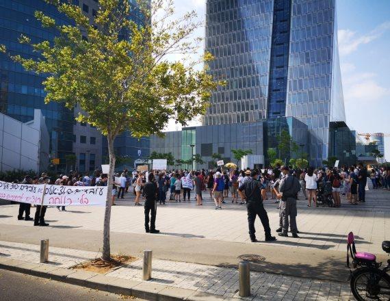 הפגנה של העובדים הסוציאליים