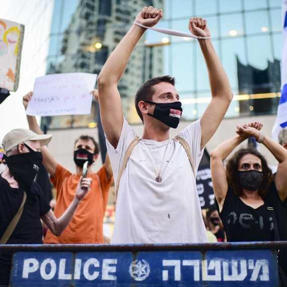 הפגנה נגד השר אמיר אוחנה אתמול (ג')