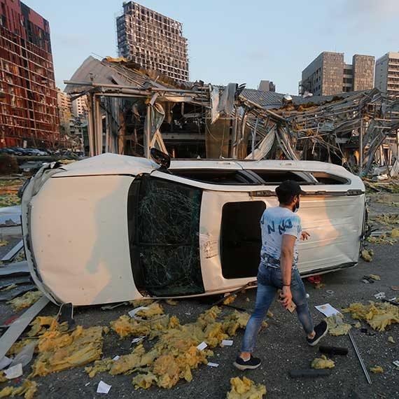 הפיצוץ העצום בלבנון