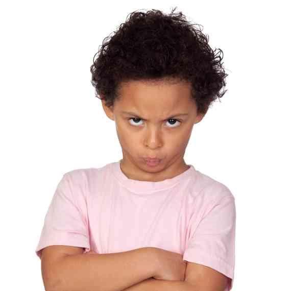 ילד עצבני
