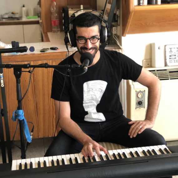 חנן בן ארי באולפן הבית של דידי לוקאלי