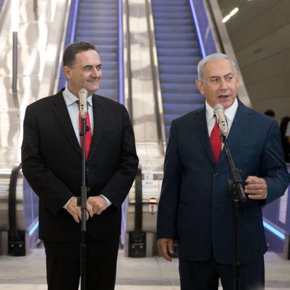 """ראש הממשלה בנימין נתניהו ושר האוצר, ישראל כ""""ץ"""