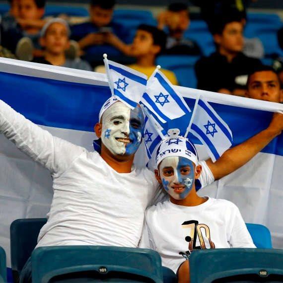 האוהדים מאושרים. אוהדי נבחרת ישראל