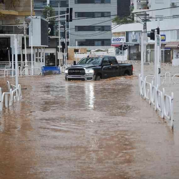 העיר נהריה מוצפת, חורף 2020