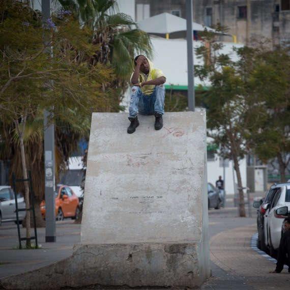 פליט בדרום תל אביב (ארכיון, למצולם אין קשר לכתבה)