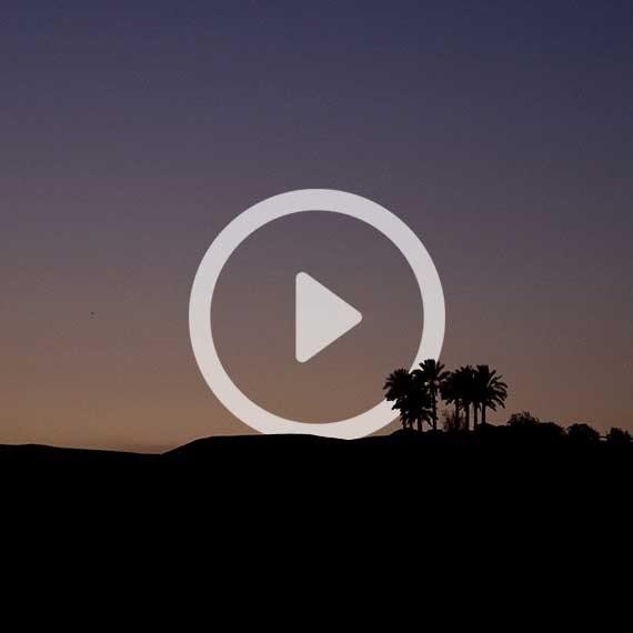 שקיעה במושב פצאל שבעמק הירדן