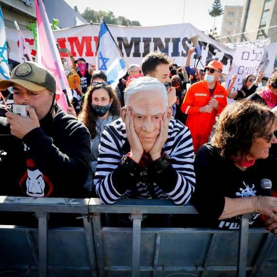 מפגינים נגד ראש הממשלה נתניהו