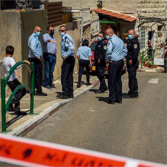 זירת האירוע בחיפה