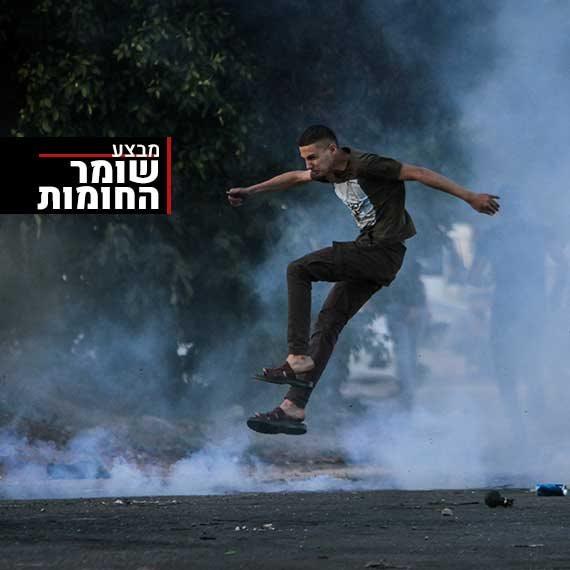 התפרעויות פלסטינים סמוך לשכם, אתמול