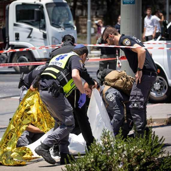 זירת פיגוע הדקירה בירושלים, היום (ב')
