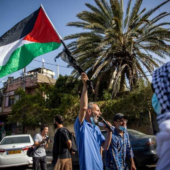 הפגנה בשייח' ג'ראח