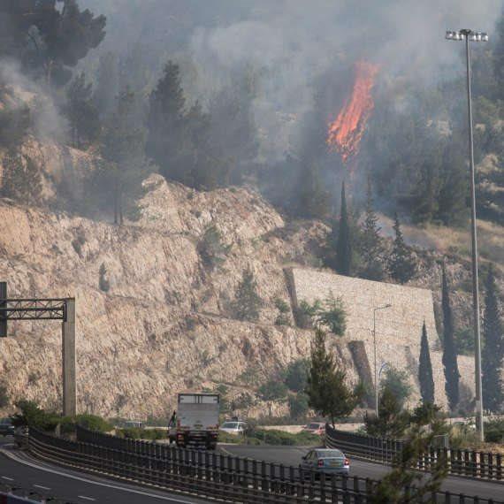 שרפות בהרי ירושלים