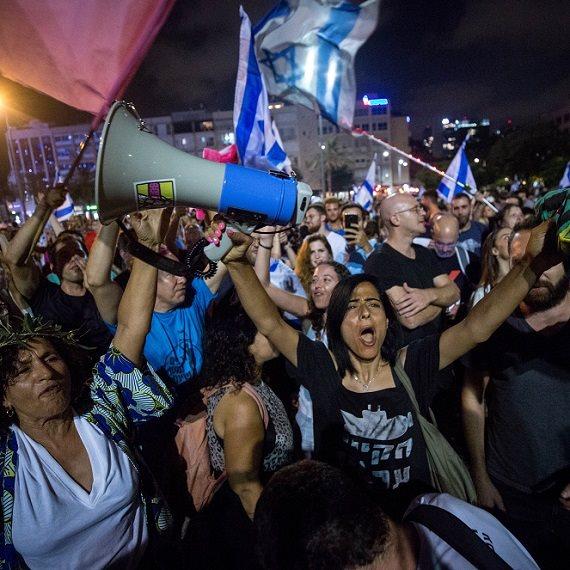 למצולם אין קשר לנאמר - החגיגות בכיכר רבין