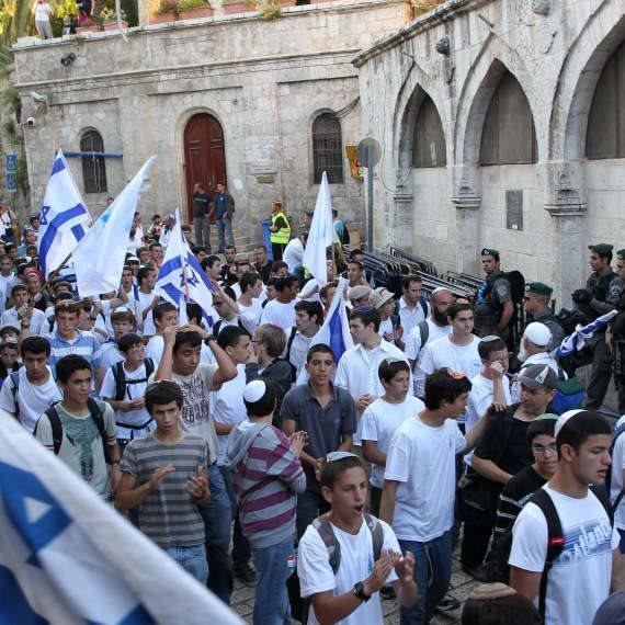 מצעד הדגלים המסורתי בירושלים