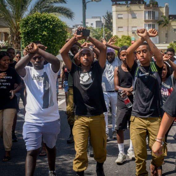 מחאת האתיופים (ארכיון, למצולמים אין קשר לנאמר)