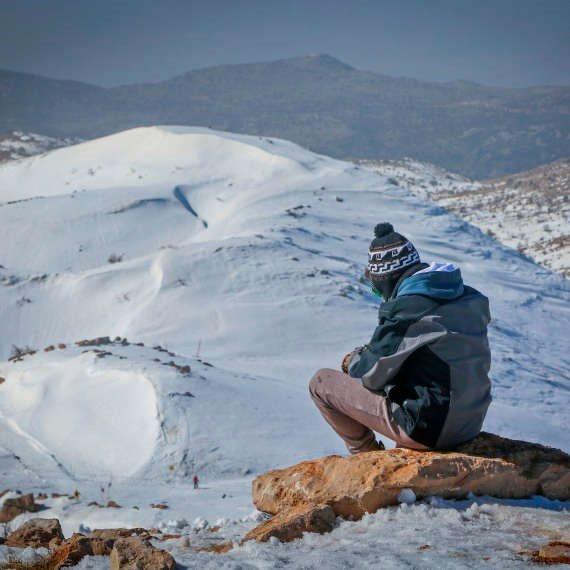 שלג, מהיום גם בתל אביב. למצולם אין קשר לנאמר