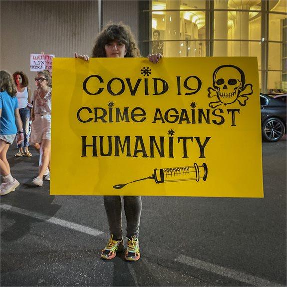הפגנה נגד חיסוני הקורונה