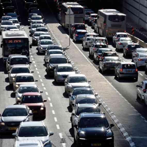 העומס בכבישים - צילום ארכיון