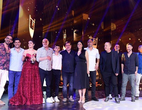 צוות הסרט 'ויהי בוקר' בטקס פרסי אופיר, אמש (ג')